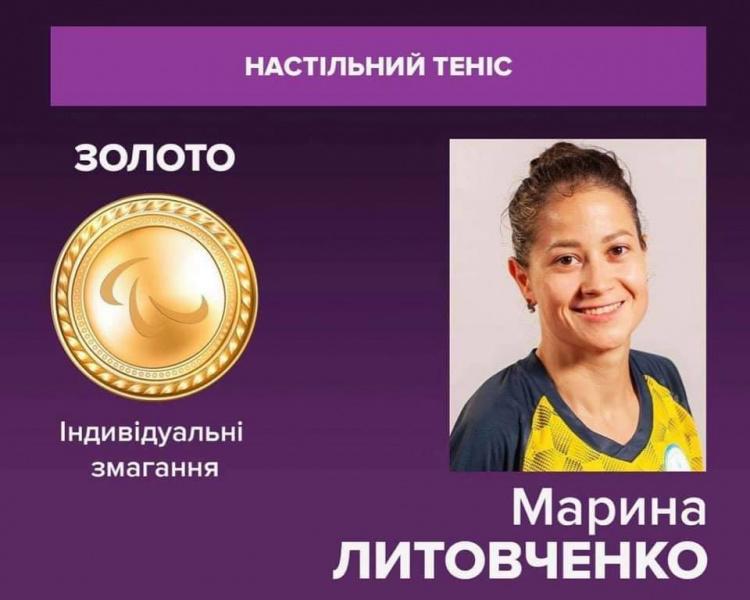 Співробітниця факультету Марина Литовченко здобула золото на Паралімпіаді у Токіо!